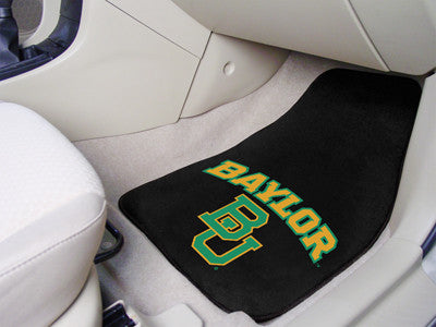 "NCAA Officially licensed Baylor University 2-pc Carpet Car Mat Set 17""x27"" Show your fandom even while driving with Carpet C"