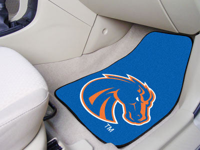 "NCAA Officially licensed Boise State University 2-pc Carpet Car Mat Set 17""x27"" Show your fandom even while driving with Car"