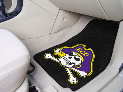 "NCAA Officially licensed East Carolina University 2-pc Carpet Car Mat Set 17""x27"" Show your fandom even while driving with C"