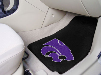 "NCAA Officially licensed Kansas State University 2-pc Carpet Car Mat Set 17""x27"" Show your fandom even while driving with Ca"