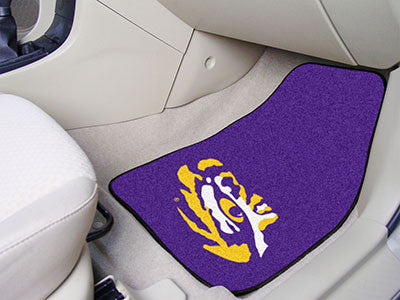 "NCAA Officially licensed Louisiana State University 2-pc Carpet Car Mat Set 17""x27"" Show your fandom even while driving with"