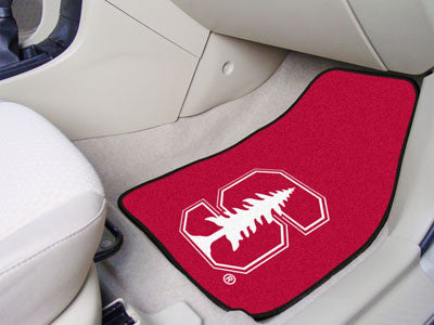 "NCAA Officially licensed Stanford University 2-pc Carpet Car Mat Set 17""x27"" Show your fandom even while driving with Carpet"