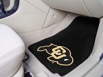 "NCAA Officially licensed University of Colorado 2-pc Carpet Car Mat Set 17""x27"" Show your fandom even while driving with Car"