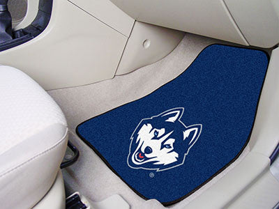 "NCAA Officially licensed University of Connecticut 2-pc Carpet Car Mat Set 17""x27"" Show your fandom even while driving with"