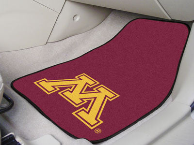 "NCAA Officially licensed University of Minnesota 2-pc Carpet Car Mat Set 17""x27"" Show your fandom even while driving with Ca"