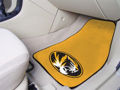 "NCAA Officially licensed University of Missouri 2-pc Carpet Car Mat Set 17""x27"" Show your fandom even while driving with Car"