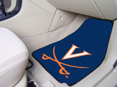 "NCAA Officially licensed University of Virginia 2-pc Carpet Car Mat Set 17""x27"" Show your fandom even while driving with Car"