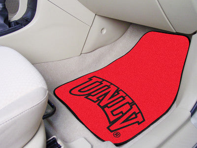 "NCAA Officially licensed University of Nevada, Las Vegas (UNLV) 2-pc Carpet Car Mat Set 17""x27"" Show your fandom even while"