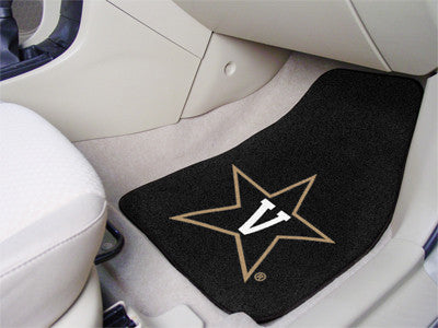 "NCAA Officially licensed Vanderbilt University 2-pc Carpet Car Mat Set 17""x27"" Show your fandom even while driving with Carp"