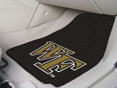 "NCAA Officially licensed Wake Forest University 2-pc Carpet Car Mat Set 17""x27"" Show your fandom even while driving with Car"
