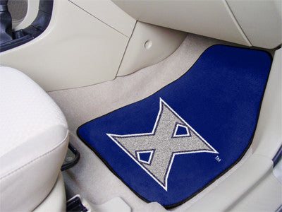 "NCAA Officially licensed Xavier University 2-pc Carpet Car Mat Set 17""x27"" Show your fandom even while driving with Carpet C"