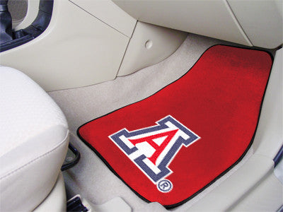 "NCAA Officially licensed University of Arizona 2-pc Carpet Car Mat Set 17""x27"" Show your fandom even while driving with Carp"
