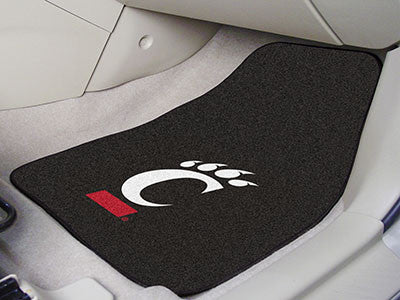 "NCAA Officially licensed University of Cincinnati 2-pc Carpet Car Mat Set 17""x27"" Show your fandom even while driving with C"