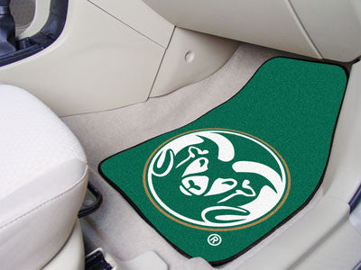 "NCAA Officially licensed Colorado State University 2-pc Carpet Car Mat Set 17""x27"" Show your fandom even while driving with"