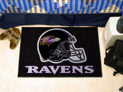 "NFL Officially licensed products Baltimore Ravens Starter Rug 19""x30"" Start showing off your team pride at home and the offi"