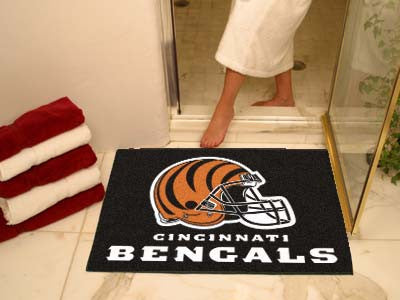 "NFL Officially licensed products Cincinnati Bengals All-Star Mat 33.75""x42.5"" Join the All-Star team and decorate your home"