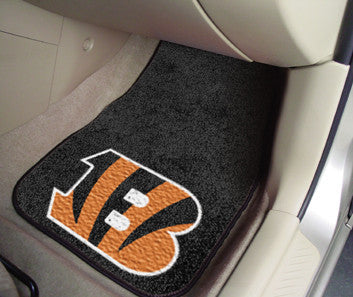 "NFL Officially licensed products Cincinnati Bengals 2-pc Carpeted Car Mats 17""x27"" Show your fandom even while driving with"