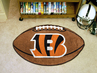 "NFL Officially licensed products Cincinnati Bengals Football Rug 20.5""x32.5"" Protect your floor in style and show off your f"
