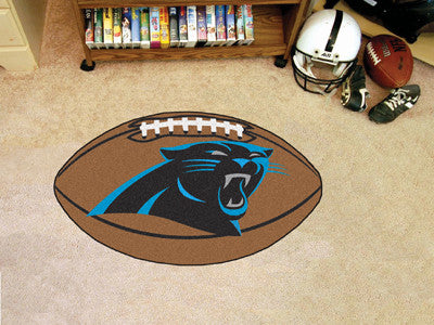 "NFL Officially licensed products Carolina Panthers Football Rug 20.5""x32.5"" Protect your floor in style and show off your fa"