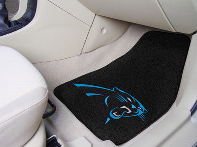 "NFL Officially licensed products Carolina Panthers 2-pc Carpeted Car Mats 17""x27"" Show your fandom even while driving with C"