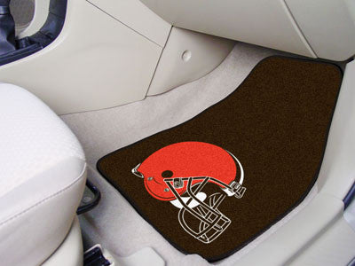 "NFL Officially licensed products Cleveland Browns 2-pc Carpeted Car Mats 17""x27"" Show your fandom even while driving with Ca"