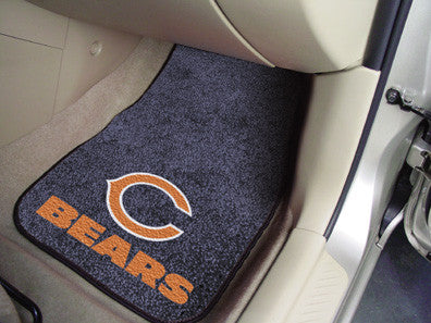 "NFL Officially licensed products Chicago Bears 2-pc Carpeted Car Mats 17""x27"" Show your fandom even while driving with Carpe"