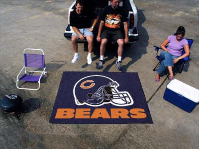 NFL Officially licensed products Chicago Bears Tailgater Rug 5'x6' Start showing off your team pride with a Tailgater Mat fr