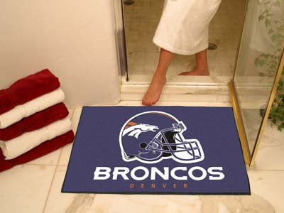 "NFL Officially licensed products Denver Broncos All-Star Mat 33.75""x42.5"" Join the All-Star team and decorate your home or o"