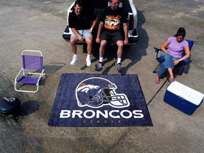 NFL Officially licensed products Denver Broncos Tailgater Rug 5'x6' Start showing off your team pride with a Tailgater Mat f