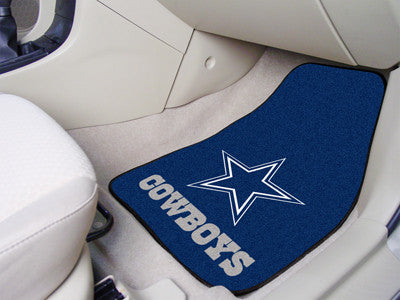 "NFL Officially licensed products Dallas Cowboys 2-pc Carpeted Car Mats 17""x27"" Show your fandom even while driving with Carp"