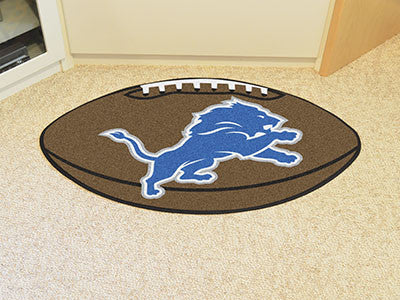 "NFL Officially licensed products Detroit Lions Football Rug 20.5""x32.5"" Protect your floor in style and show off your fandom"