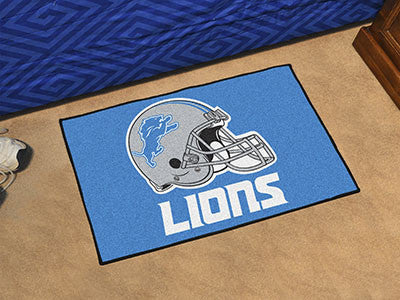 "NFL Officially licensed products Detroit Lions Starter Rug 19""x30"" Start showing off your team pride at home and the office"