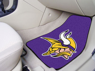 "NFL Officially licensed products Minnesota Vikings 2-pc Carpeted Car Mats 17""x27"" Show your fandom even while driving with C"