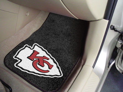 "NFL Officially licensed products Kansas City Chiefs 2-pc Carpeted Car Mats 17""x27"" Show your fandom even while driving with"