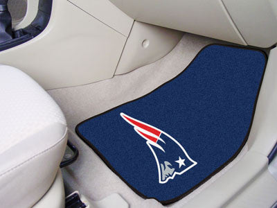 "NFL Officially licensed products New England Patriots 2-pc Carpeted Car Mats 17""x27"" Show your fandom even while driving wit"