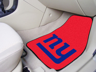 "NFL Officially licensed products New York Giants 2-pc Carpeted Car Mats 17""x27"" Show your fandom even while driving with Car"