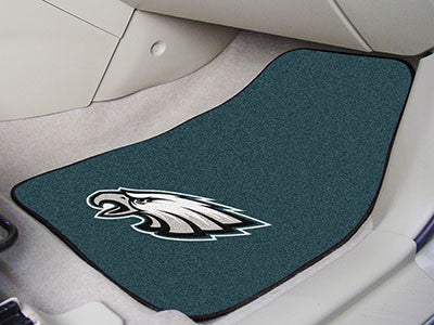 "NFL Officially licensed products Philadelphia Eagles 2-pc Carpeted Car Mats 17""x27"" Show your fandom even while driving with"