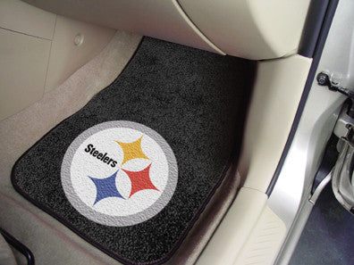 "NFL Officially licensed products Pittsburgh Steelers 2-pc Carpeted Car Mats 17""x27"" Show your fandom even while driving with"