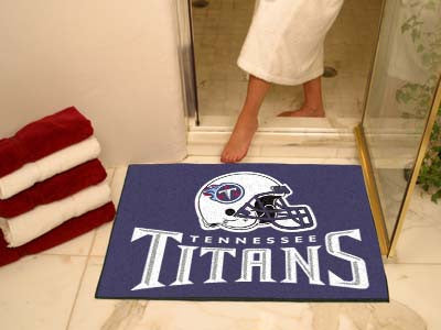 "NFL Officially licensed products Tennessee Titans All-Star Mat 33.75""x42.5"" Join the All-Star team and decorate your home or"