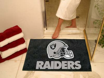 "NFL Officially licensed products Oakland Raiders All-Star Mat 33.75""x42.5"" Join the All-Star team and decorate your home or"