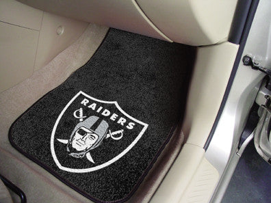 "NFL Officially licensed products Oakland Raiders 2-pc Carpeted Car Mats 17""x27"" Show your fandom even while driving with Car"