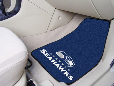 "NFL Officially licensed products Seattle Seahawks 2-pc Carpeted Car Mats 17""x27"" Show your fandom even while driving with Ca"