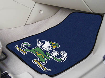 "NCAA Officially licensed Notre Dame 2-pc Carpet Car Mat Set 17""x27"" Show your fandom even while driving with Carpet Car Mats"