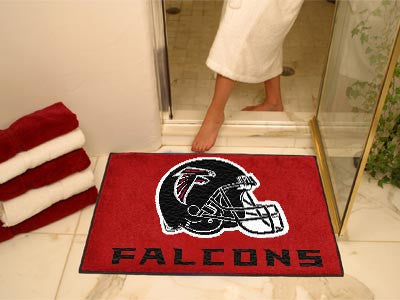"NFL Officially licensed products Atlanta Falcons All-Star Mat 33.75""x42.5"" Join the All-Star team and decorate your home or"