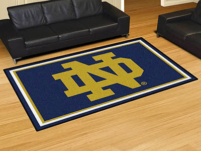 "NCAA Officially licensed Notre Dame 5x8 Rug 59.5""x88"" Show off your team pride in a big way! 5'x8' ultra plush area rugs won"