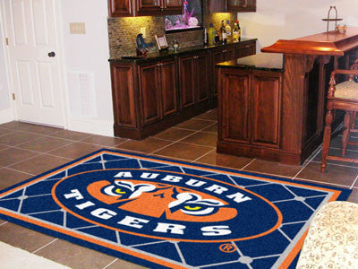 "NCAA Officially licensed Auburn University 5x8 Rug 59.5""x88"" Show off your team pride in a big way! 5'x8' ultra plush area r"