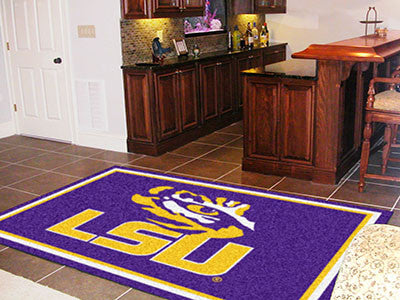 "NCAA Officially licensed Louisiana State University 5x8 Rug 59.5""x88"" Show off your team pride in a big way! 5'x8' ultra plu"