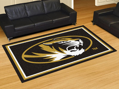 "NCAA Officially licensed University of Missouri 5x8 Rug 59.5""x88"" Show off your team pride in a big way! 5'x8' ultra plush a"