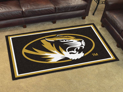 "NCAA Officially licensed University of Missouri 4x6 Rug 44""x71"" Show off your team pride in a big way! 4'x6' ultra plush are"