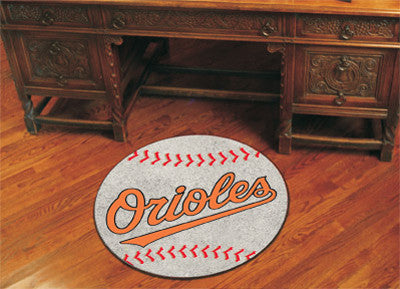 "MLB Officially licensed products Baltimore Orioles Baseball Mat 27"" diameter Protect your floor in style and show off your f"